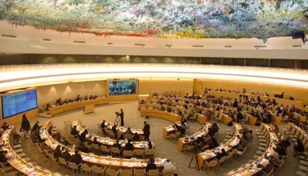 The Human Rights Council chamber in Geneva. United Nations photo in the public domain.