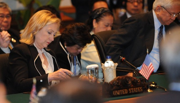 Secretary Clinton attends the EAS Ministerial meeting in Bali. The ARF is increasingly a prepartory conference for the East Asia Summit.