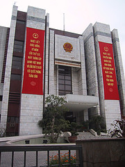The Communist Party Secretariat in Hanoi. Photo courtesy of jascha's Flickr photostream, http://www.flickr.com/photos/jaschajabes/760909511/.