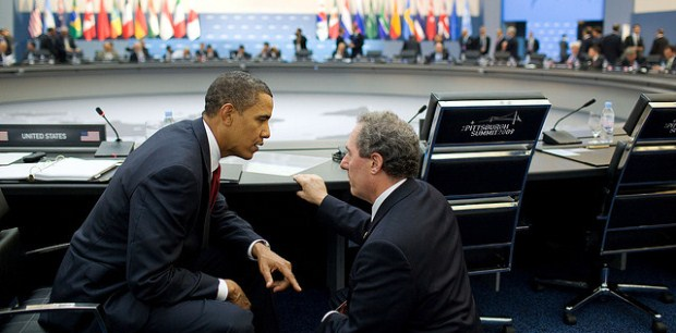 Mike Froman with the President at the Pittsburgh G-20  Summit in 2009