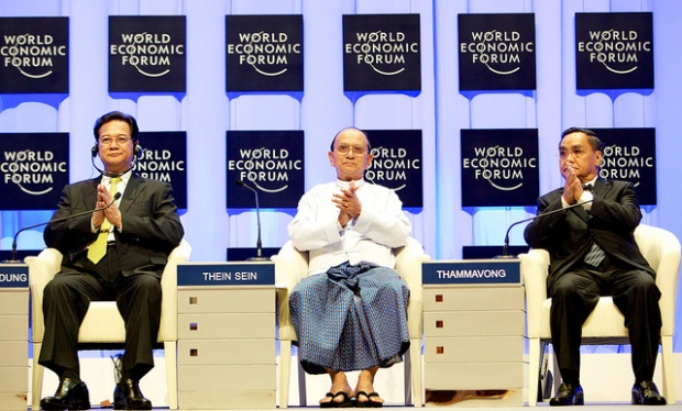 Thein Sein at the World Economic Forum.