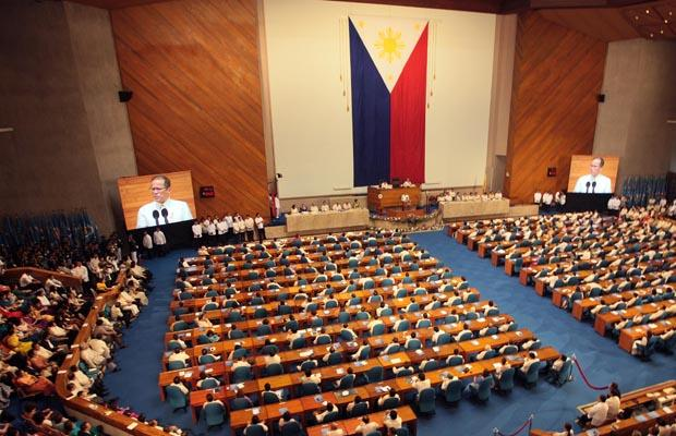 Philippine House of Representatives. President Aquino will deliver his fourth State of the Nation Address (SONA) here on July 22, 2013.  Source: Wikimedia, Philippine government image in public domain.