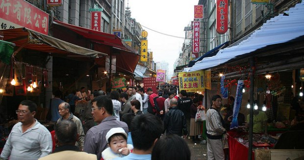 "Source: Murdocke's Flicker Stream, used under a creative commons license. ""Traditional medicine market in Taiwan."""