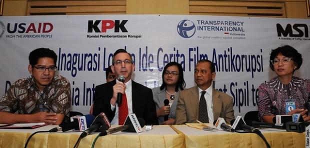 A U.S. sponsored anti-corruption film competition in Indonesia.