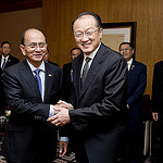 President Thein Sein of Myanmar and World Bank President Jim Yong Kim