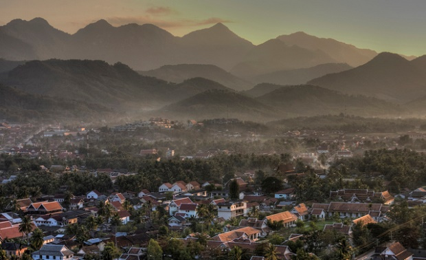 unset over Luang Prabang, Laos. Source: Pondspider's flickr photostream, used under a creative commons license.