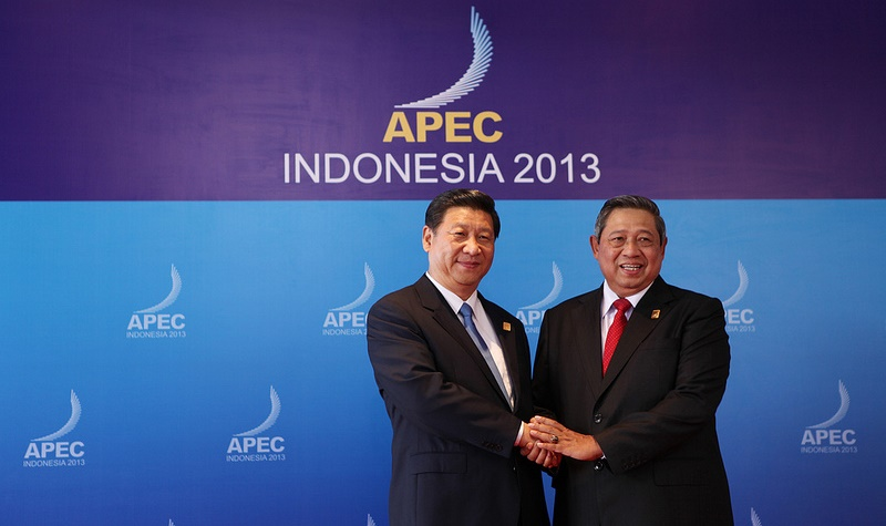 Presidents Yudhoyono & Xi at APEC 2013 in Bali. Source: APEC 2013 flickr photostream, used under a creative commons license.