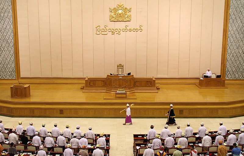 Myanmar Parliament in session. Source: nznationalparty's flickr photostream, used under a creative commons license.
