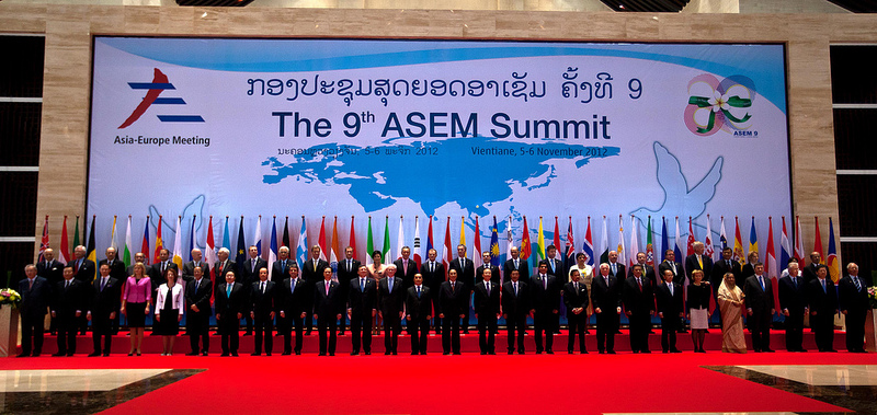 The 9th ASEM Summit held in Laos during 2012. Source: European Council's fickr photostream, used under a creative commons license.