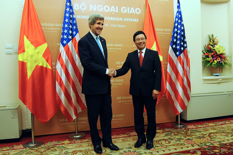 Secretary Kerry meeting with Foreign Minister Pham Binh Minh in Hanoi, Vietnam, December 16, 2013. Source: U.S. Department of State's flickr photostream, used under a creative commons license.