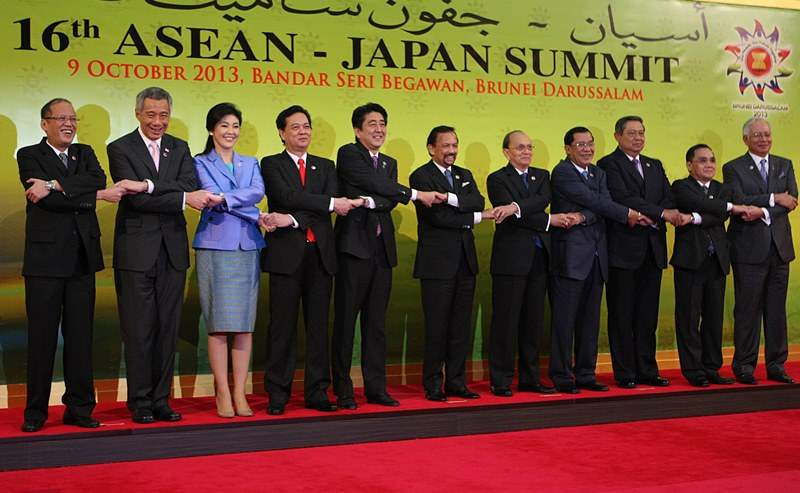 Prime Minister Shinzo Abe attending the 16thASEAN – Japan Summit in Brunei on October 09, 2013 Source: Philippine government photo by Robert Viñas / Malacañang Photo Bureau.