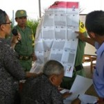 A parliamentary ballot from the 2009 elections. Ballots in Indonesia fold out like newspapers and are filled with the names of hundreds of candidates competing for seats in the national, provincial, and district level legislatures. Source: Yudha P Sunandar's flickr photostream, used under a creative commons license.