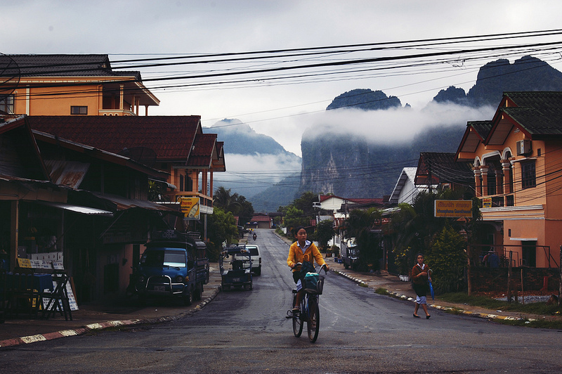 Dawn in Vang Vieng, Laos. Laos's ability to sustain economic growth will depend heavily on its governments ability to attract foreign investment and increase the human capital of its citizens.