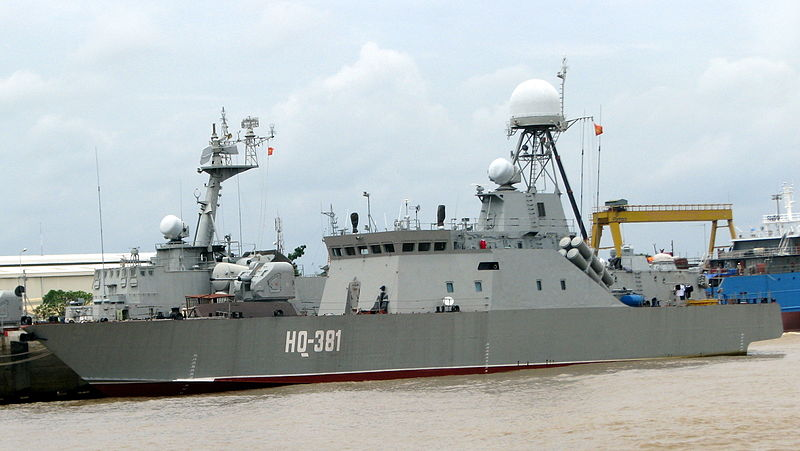Vietnam People's navy BPS-500 class antisubmarine warfare corvette HQ-381. Source: Wikimedia, used under a creative commons license.